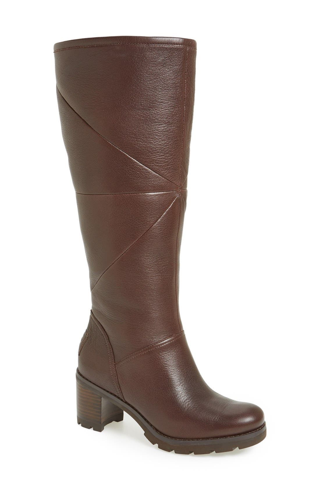 Alternate Image 1 Selected - UGG® 'Avery' Water Resistant Genuine Shearling Lined Leather Boot (Women)