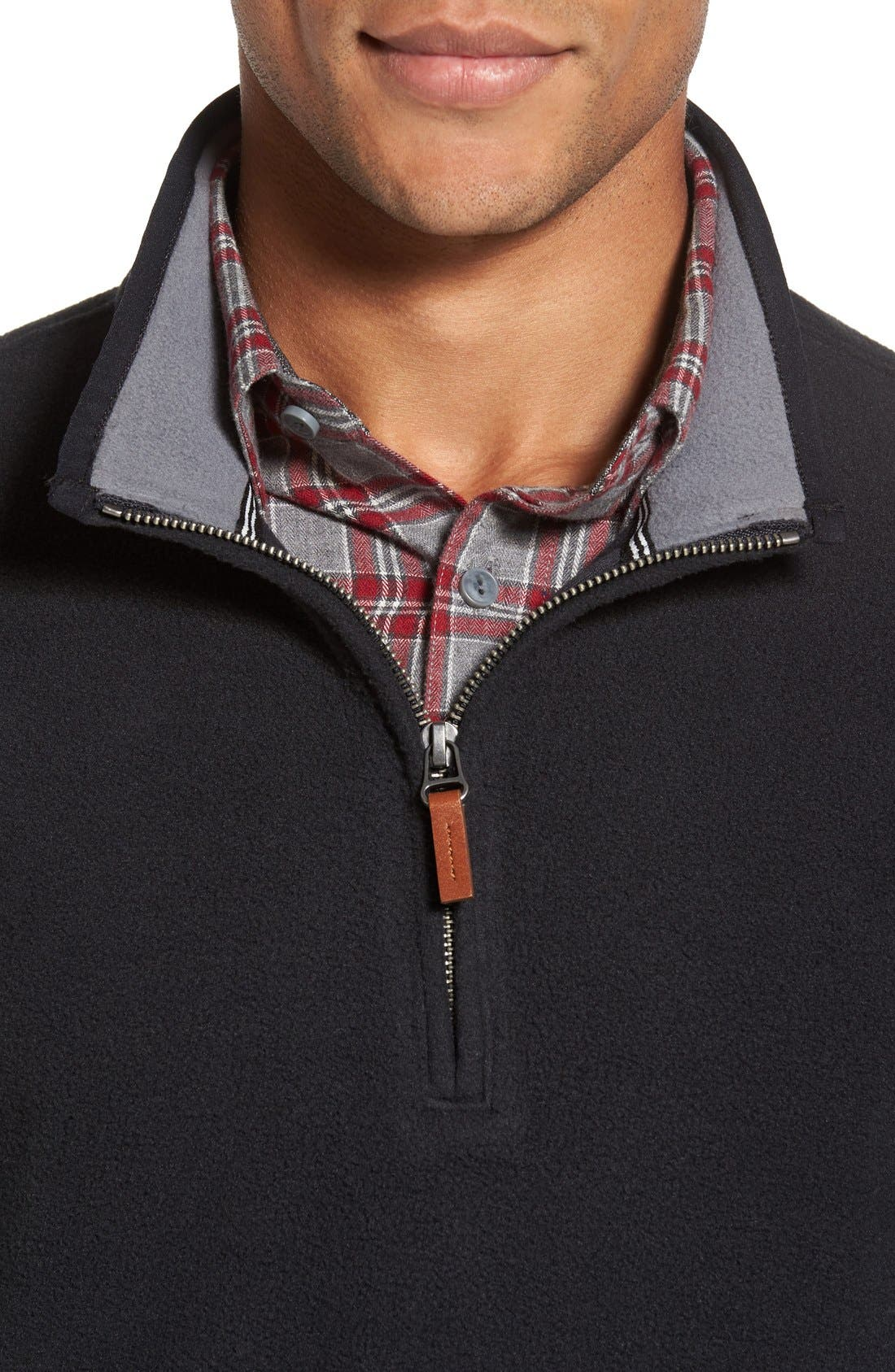 Alternate Image 4  - Nordstrom Men's Shop Polar Fleece Quarter Zip Pullover (Regular & Tall)