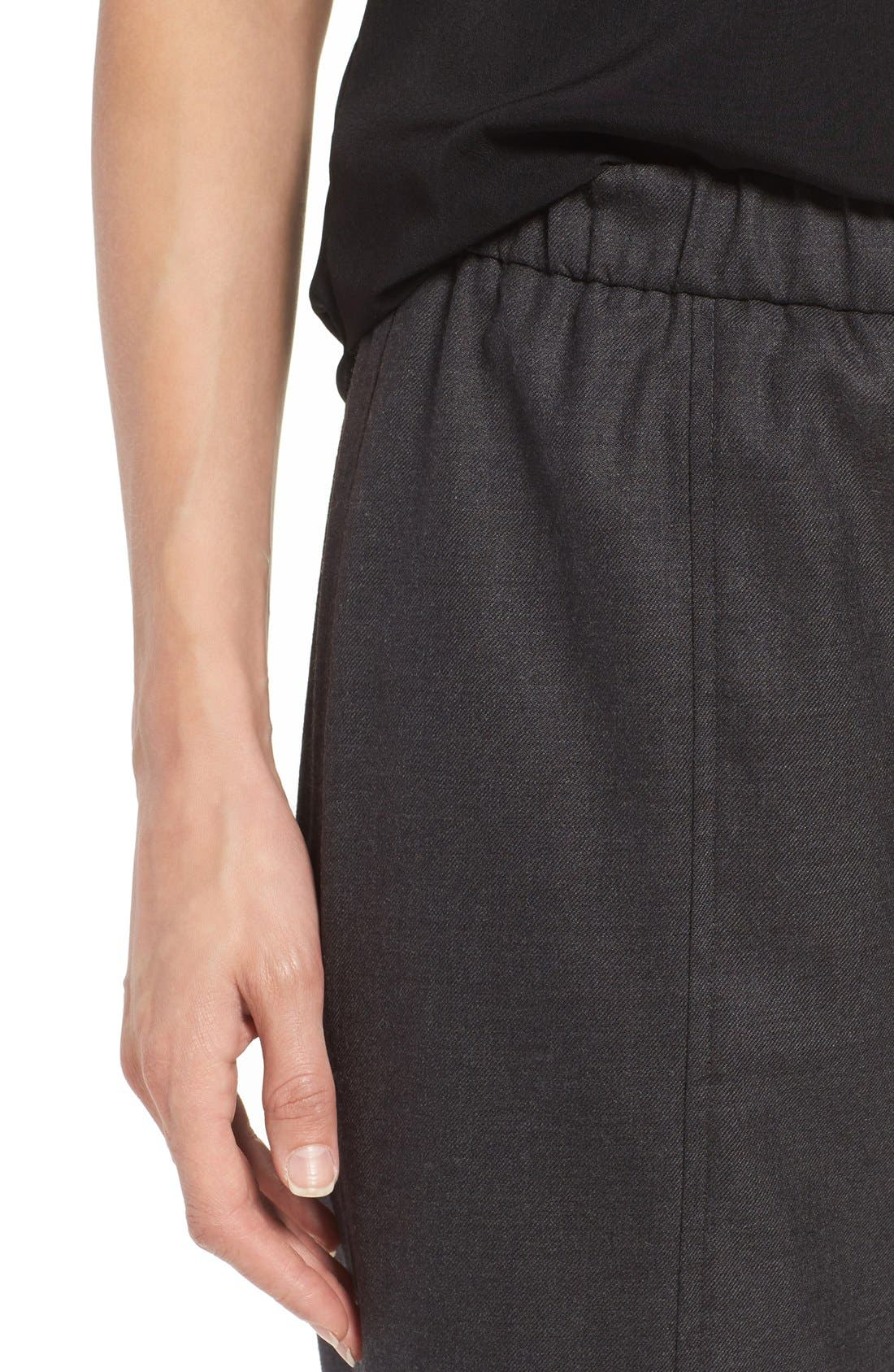Alternate Image 4  - Eileen Fisher Stretch Flannel Twill Ankle Pants