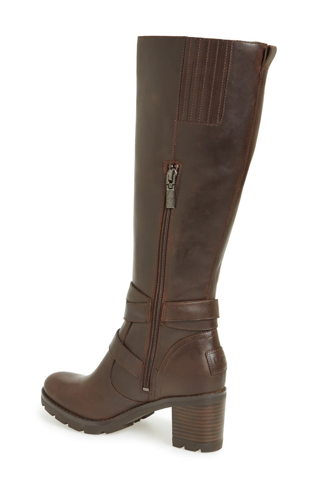 Alternate Image 2  - UGG® 'Lana' Water Resistant Genuine Shearling Lined Leather Boot (Women)