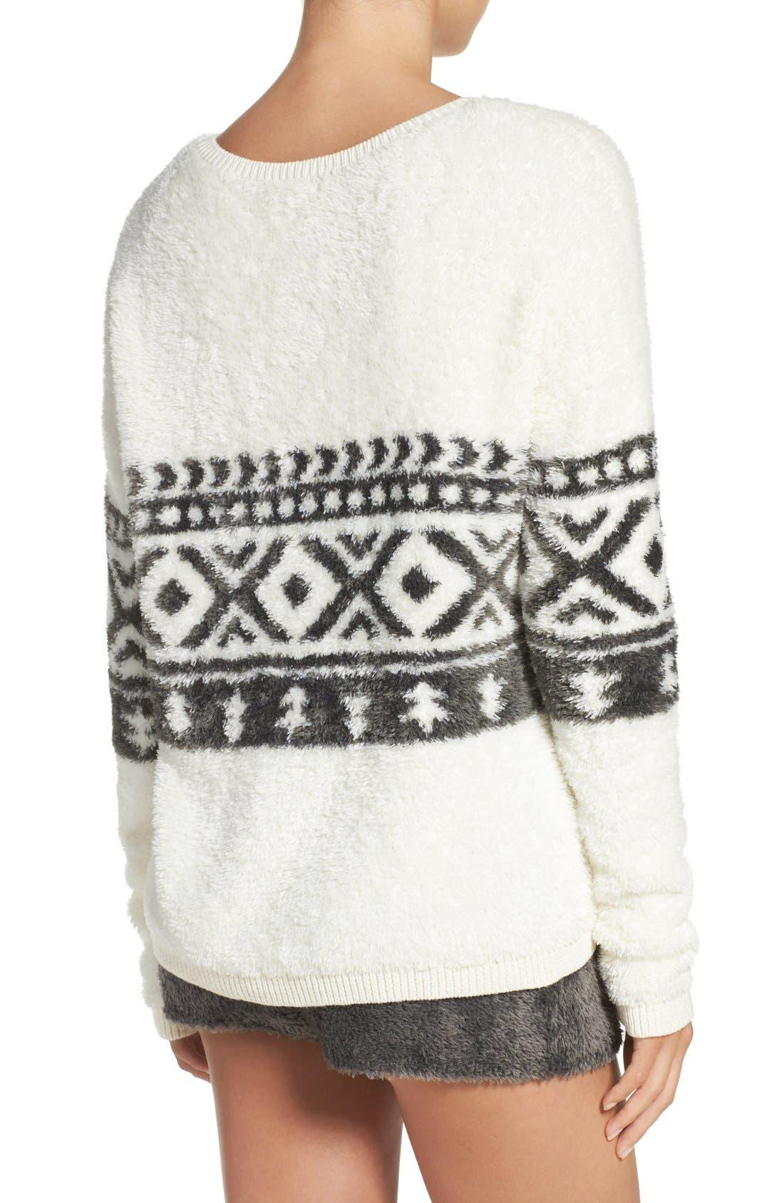 Alternate Image 2  - Make + Model Fuzzy Lounge Sweater