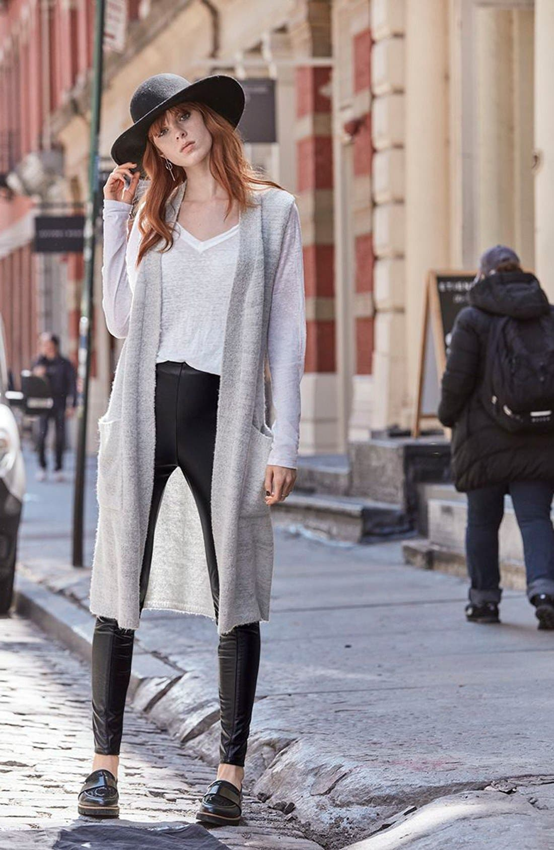 Alternate Image 6  - Echo Knit Long Vest