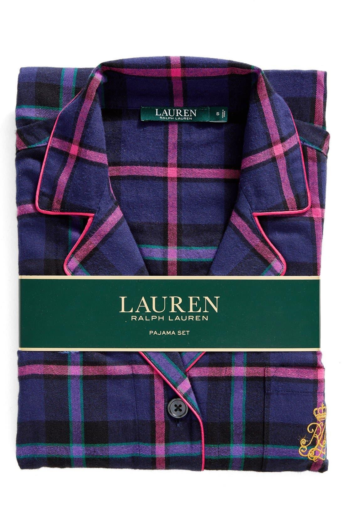 Alternate Image 2  - Lauren Ralph Lauren Twill Pajamas