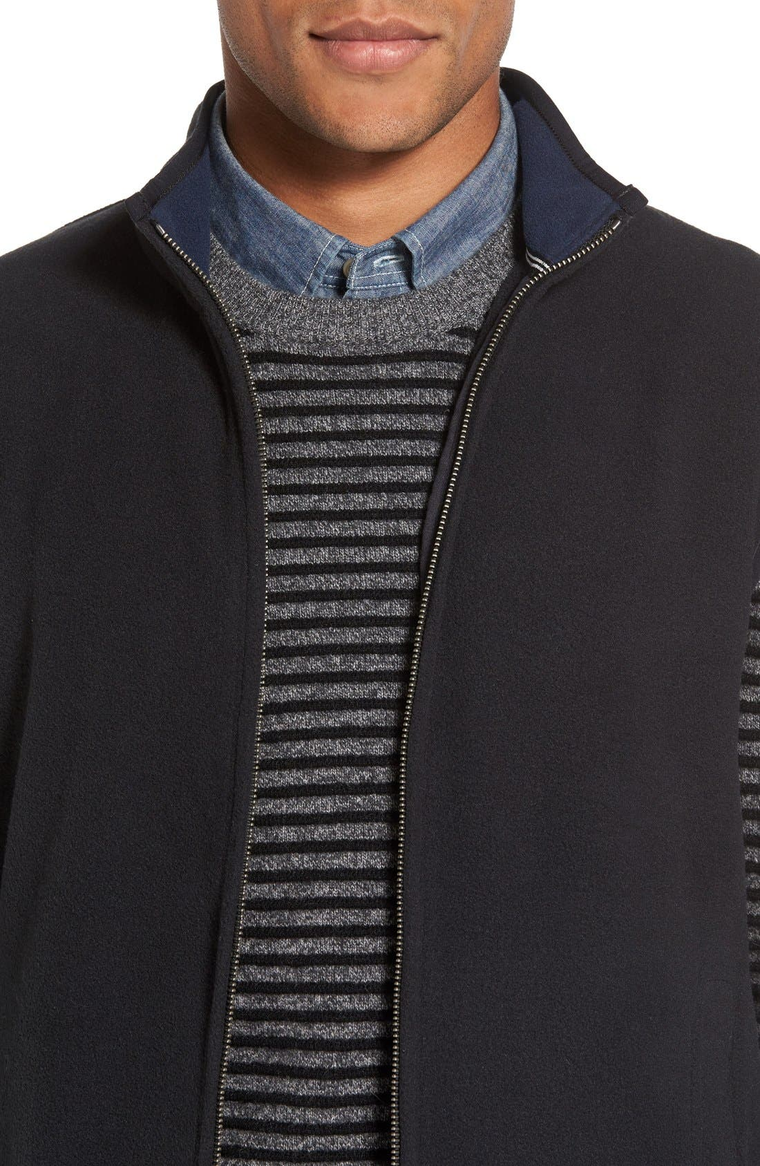 Alternate Image 4  - Nordstrom Men's Shop Polar Fleece Vest (Regular & Tall)