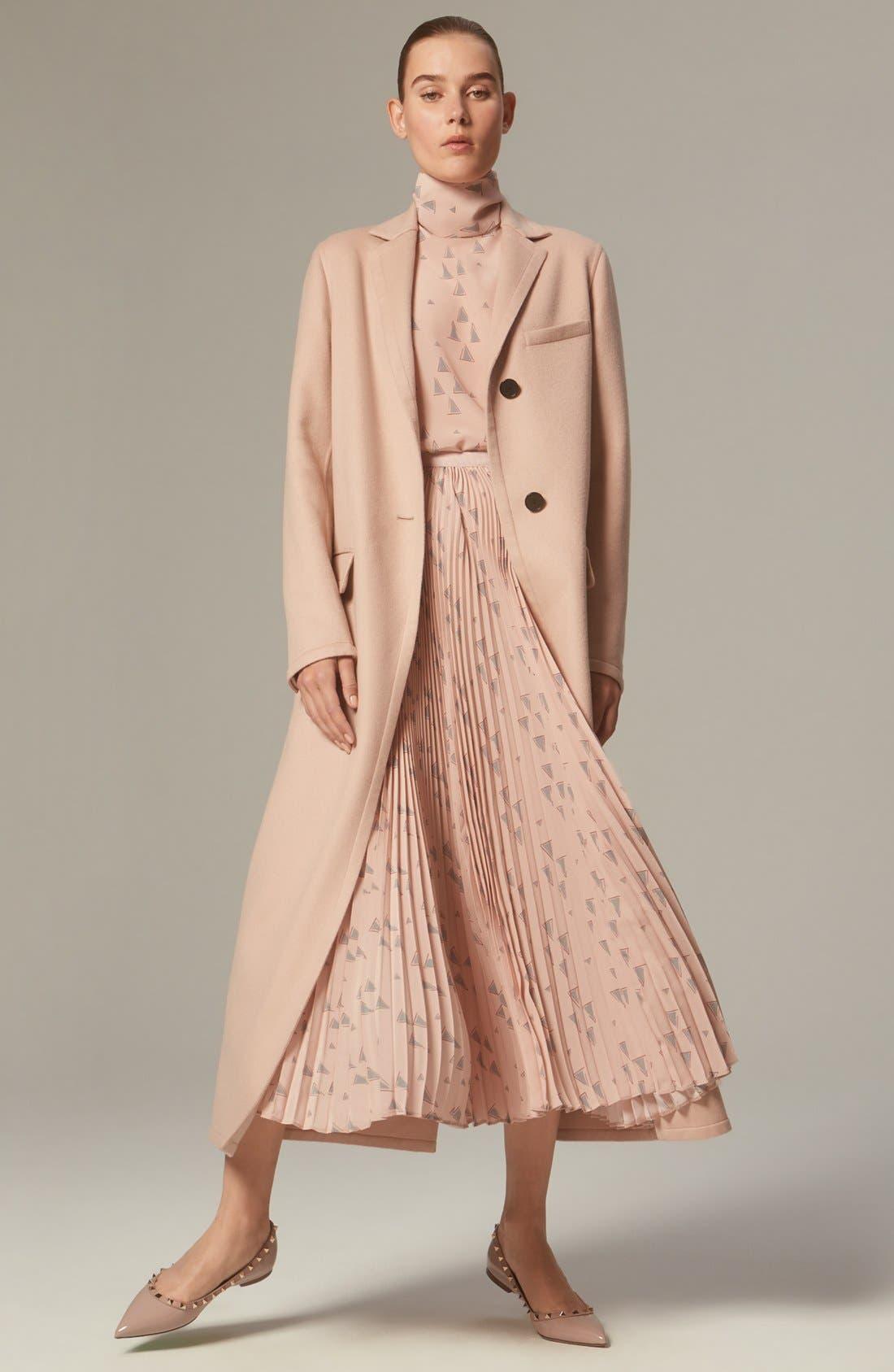 Alternate Image 8  - Valentino 'Cascade Triangle' Print Plissé Maxi Skirt