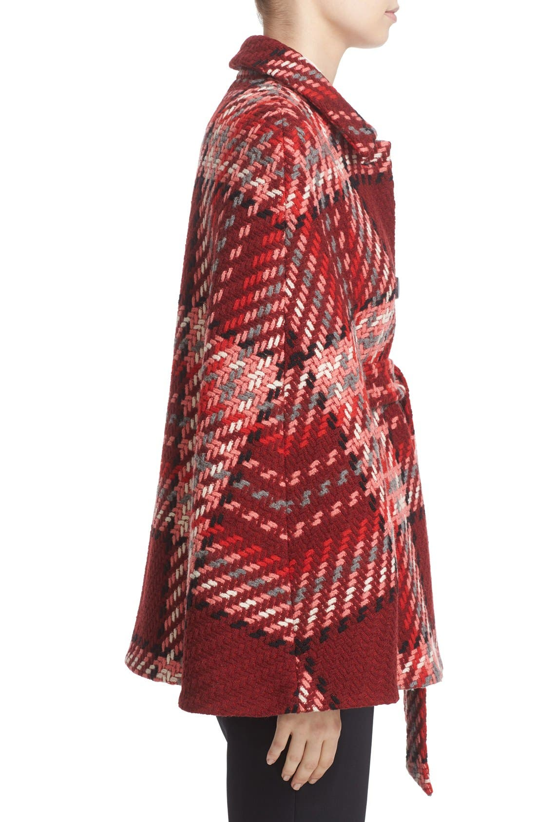 Alternate Image 3  - kate spade new york chunky plaid belted wool blend cape