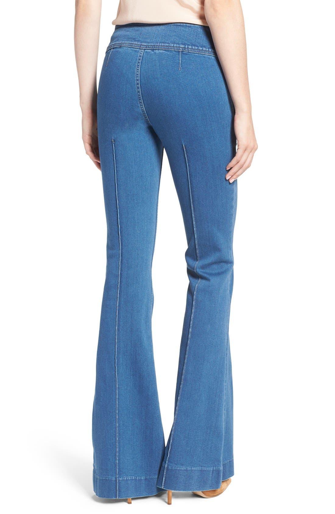 Alternate Image 3  - Olivia Palermo + Chelsea28 High Rise Flare Jeans (Mode Lt Rinse)