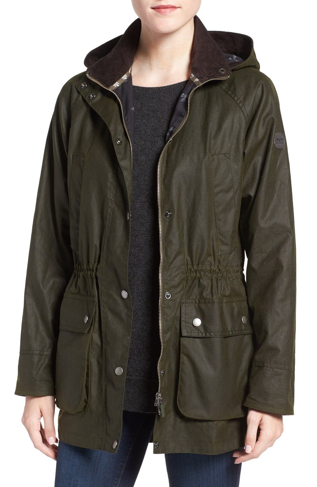 Alternate Image 1 Selected - Barbour Brae Waxed Cotton Parka