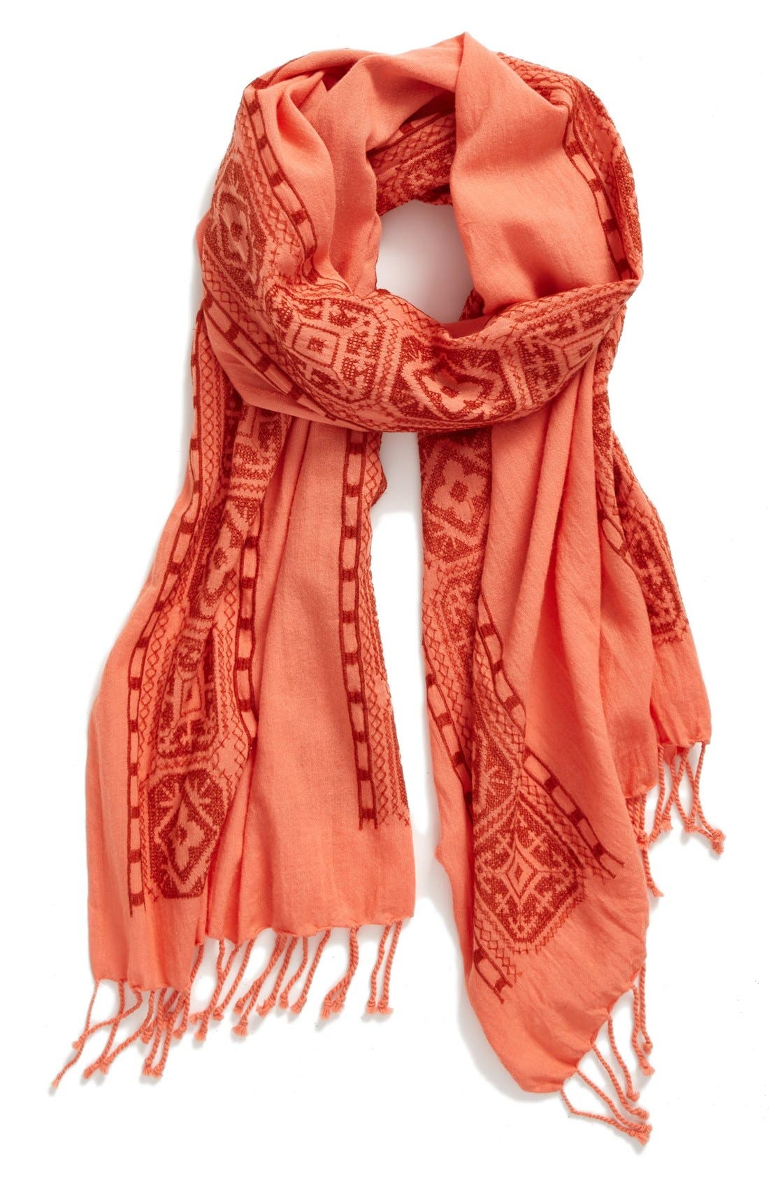 Alternate Image 2  - Eileen Fisher Embroidered Organic Cotton Scarf