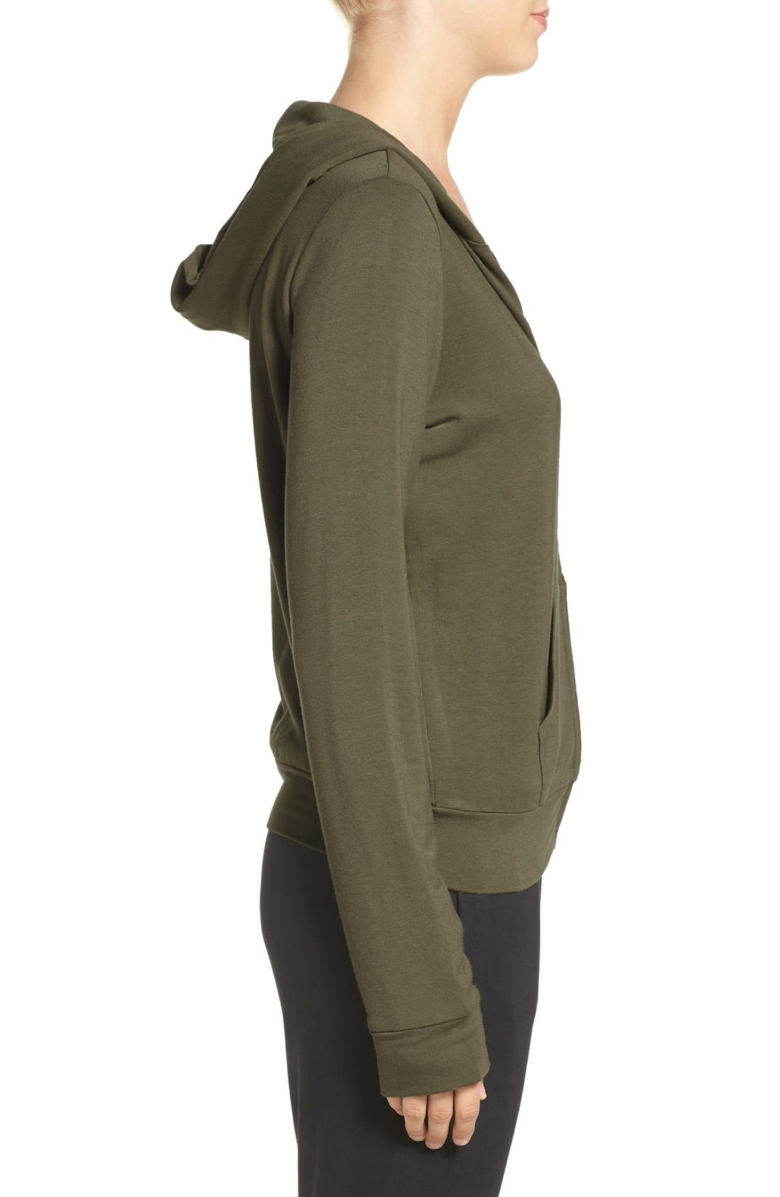Alternate Image 3  - The Laundry Room 'Cozy' Front Zip Lounge Hoodie