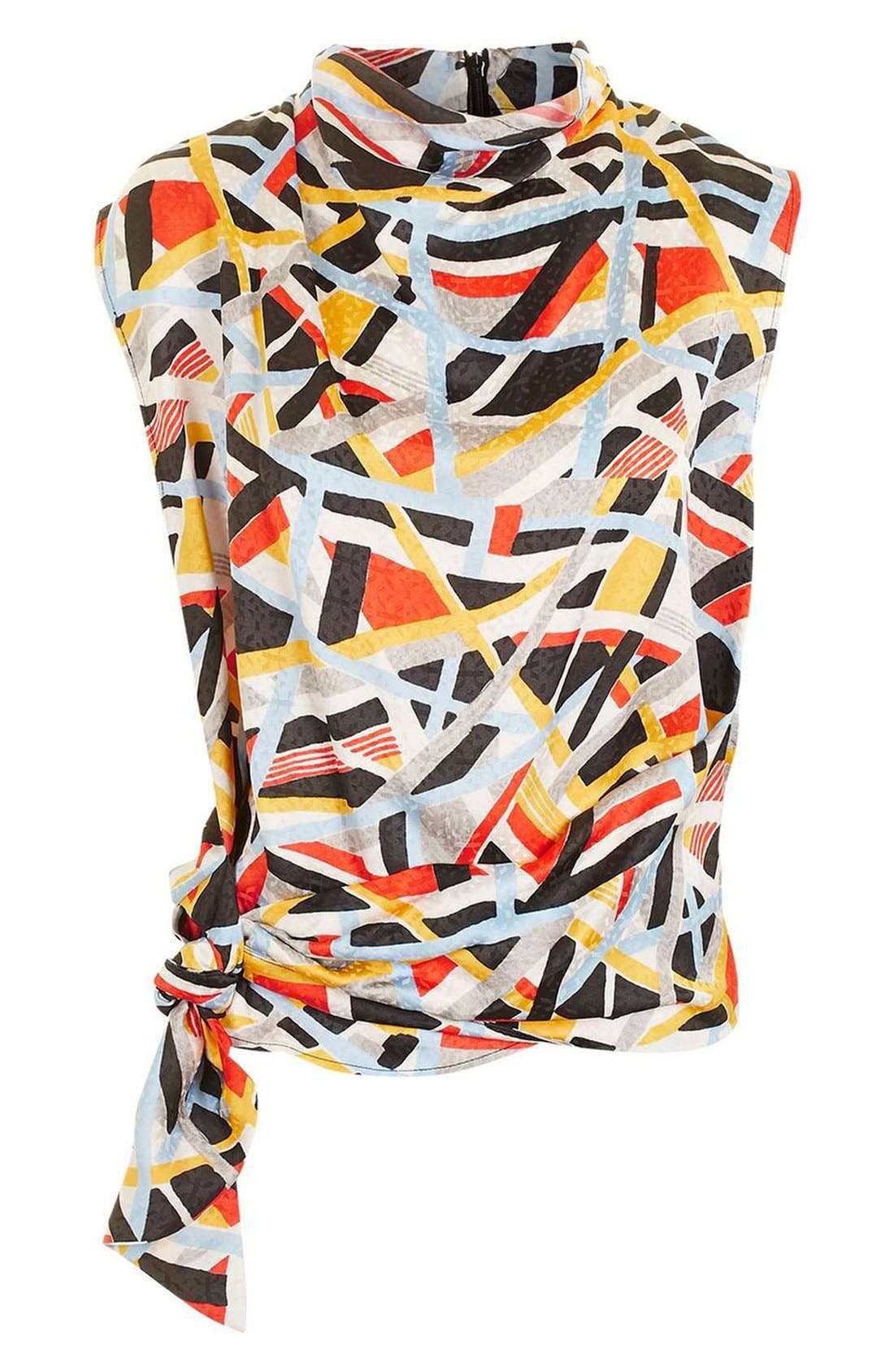 Alternate Image 5  - Topshop Boutique 'Metro' Funnel Neck Sleeveless Top