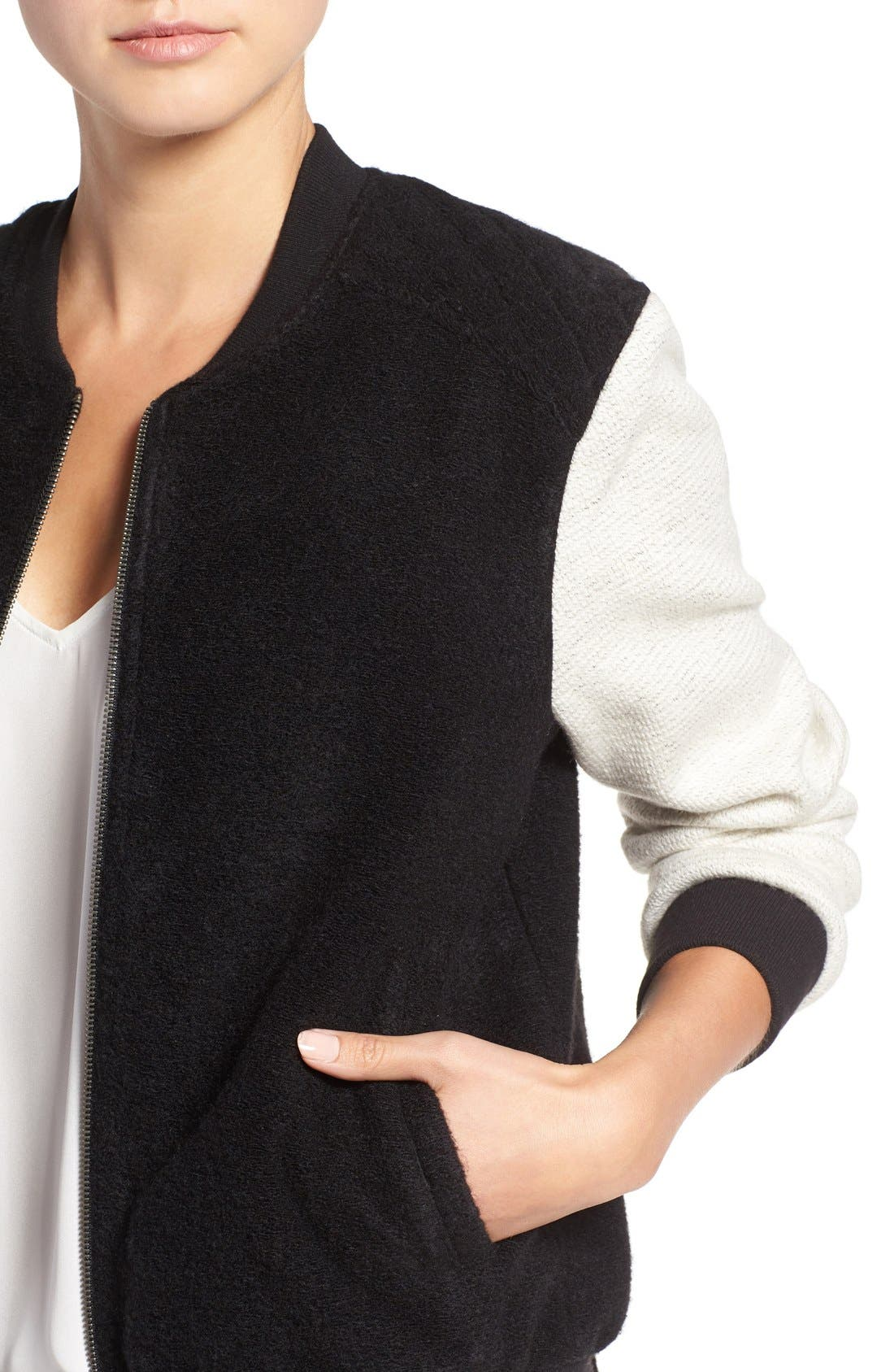 Alternate Image 4  - cupcakes and cashmere 'Tompkins' Colorblock Varsity Jacket