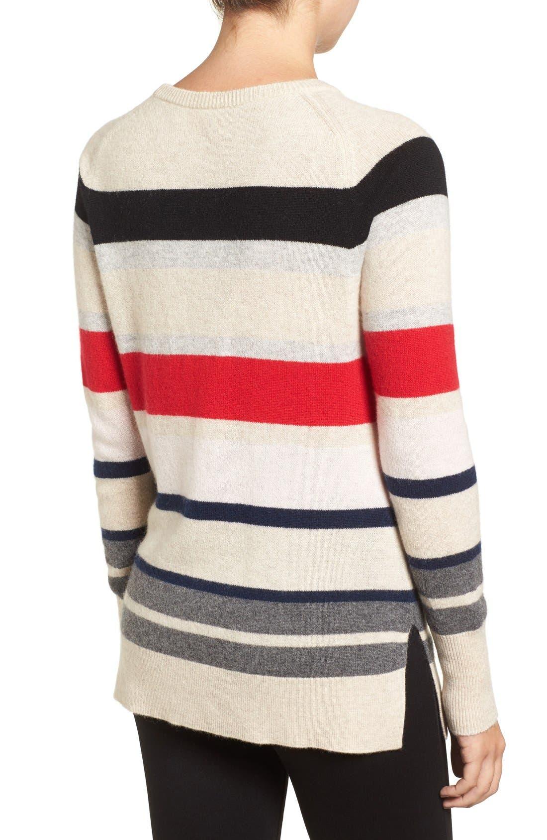 Alternate Image 3  - Halogen® Patterned Cashmere Sweater (Regular & Petite)