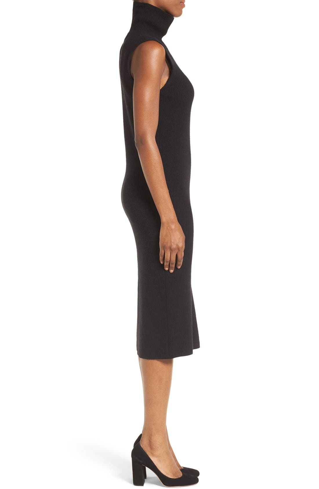 Alternate Image 3  - Nordstrom Collection Wool Blend Rib Sweater Dress