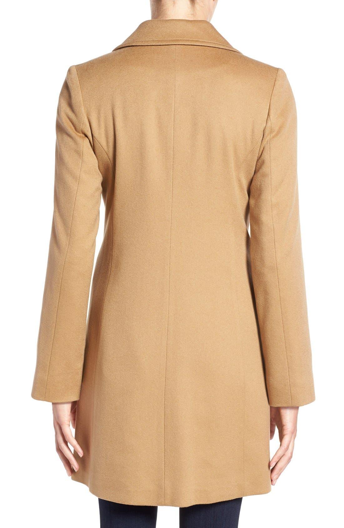 Alternate Image 2  - Fleurette Notch Collar Lightweight Cashmere Coat