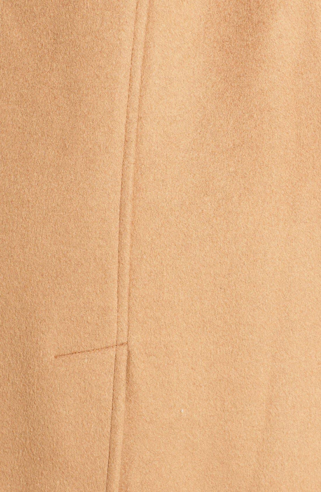 Alternate Image 5  - Ivanka Trump Wool Blend Coat with Removable Faux Fur Trim Hood
