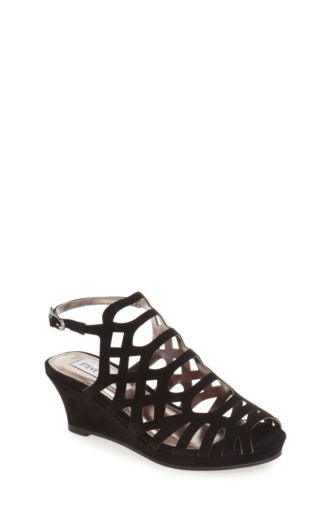 Steve Madden 'Jslithr' Cage Wedge Sandal (Little Kid & Big Kid)