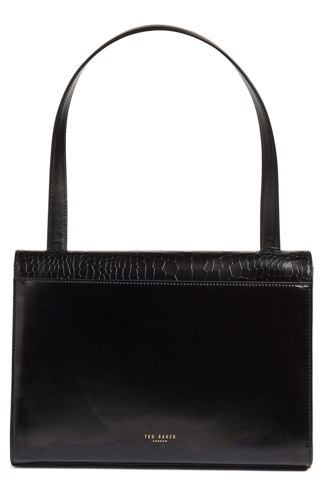Alternate Image 3  - Ted Baker London 'Lowri' Croc Embossed Leather Shoulder Bag