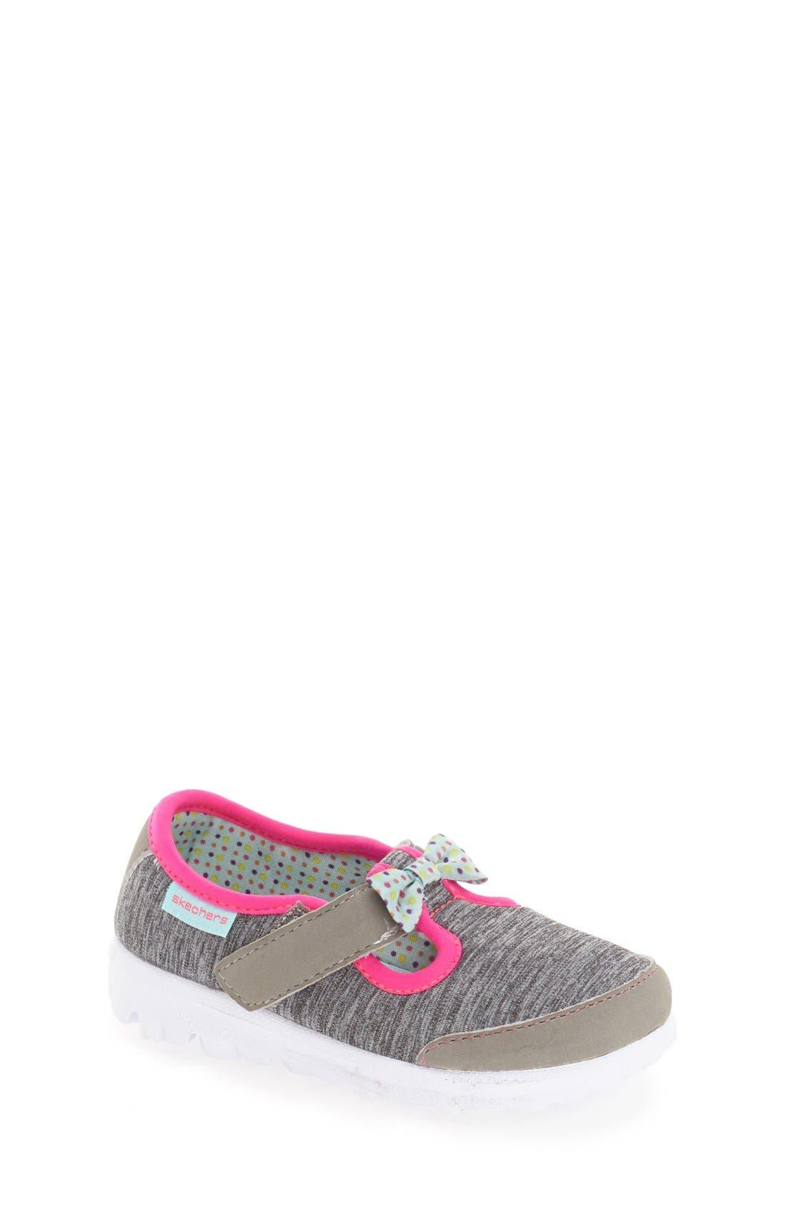 SKECHERS 'Go Walk - Bitty Bow' Sneaker (Walker & Toddler)
