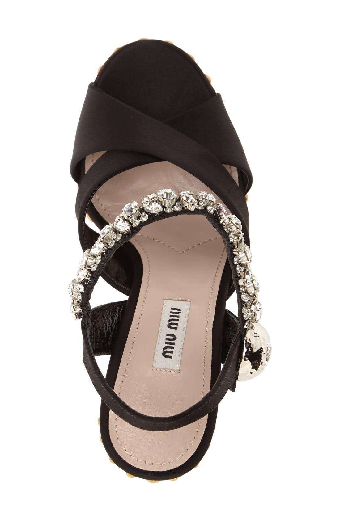 Alternate Image 3  - Miu Miu Embellished Platform Sandal (Women)