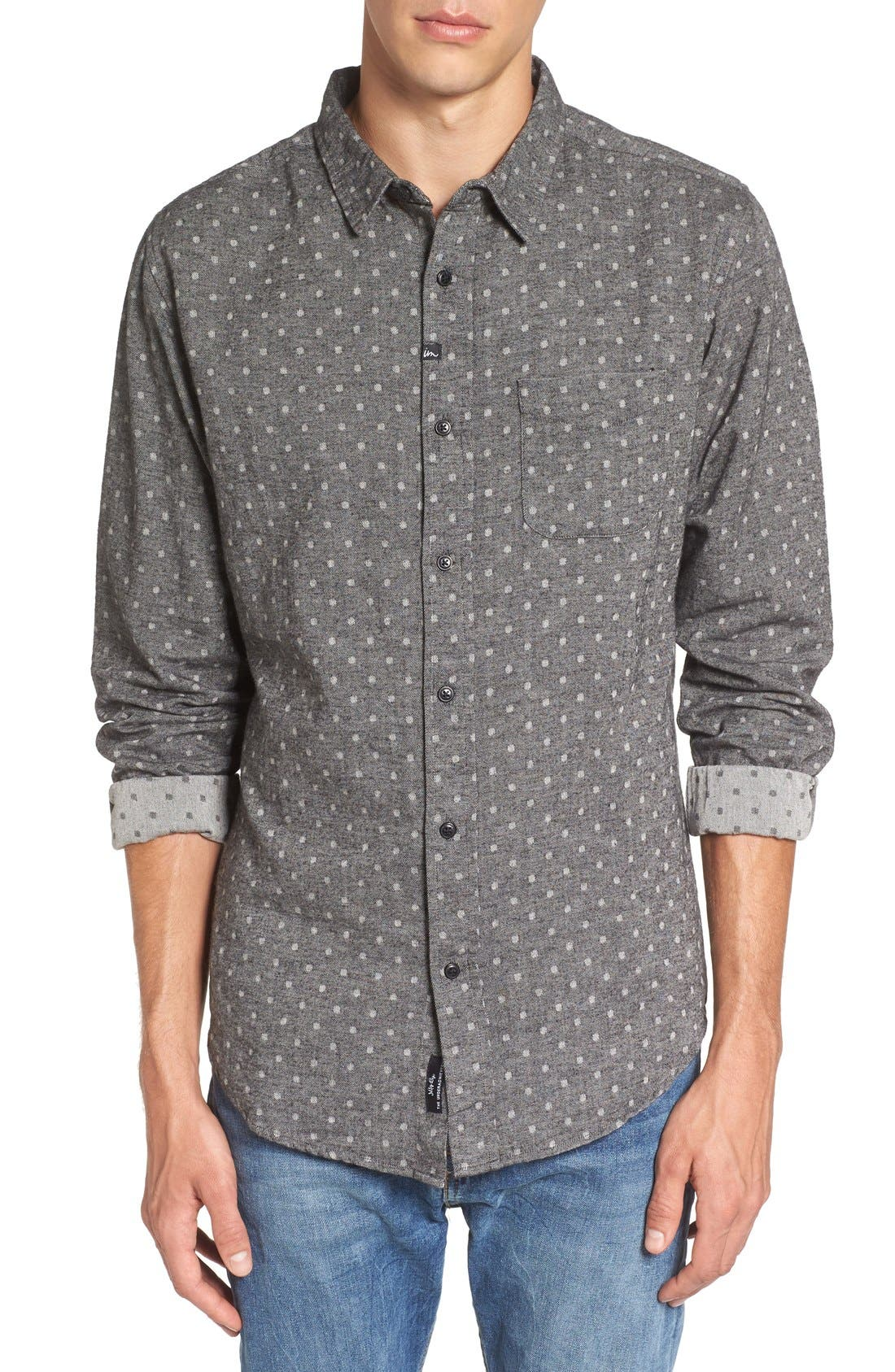 IMPERIAL MOTION 'Harris' Dot Print Flannel Shirt