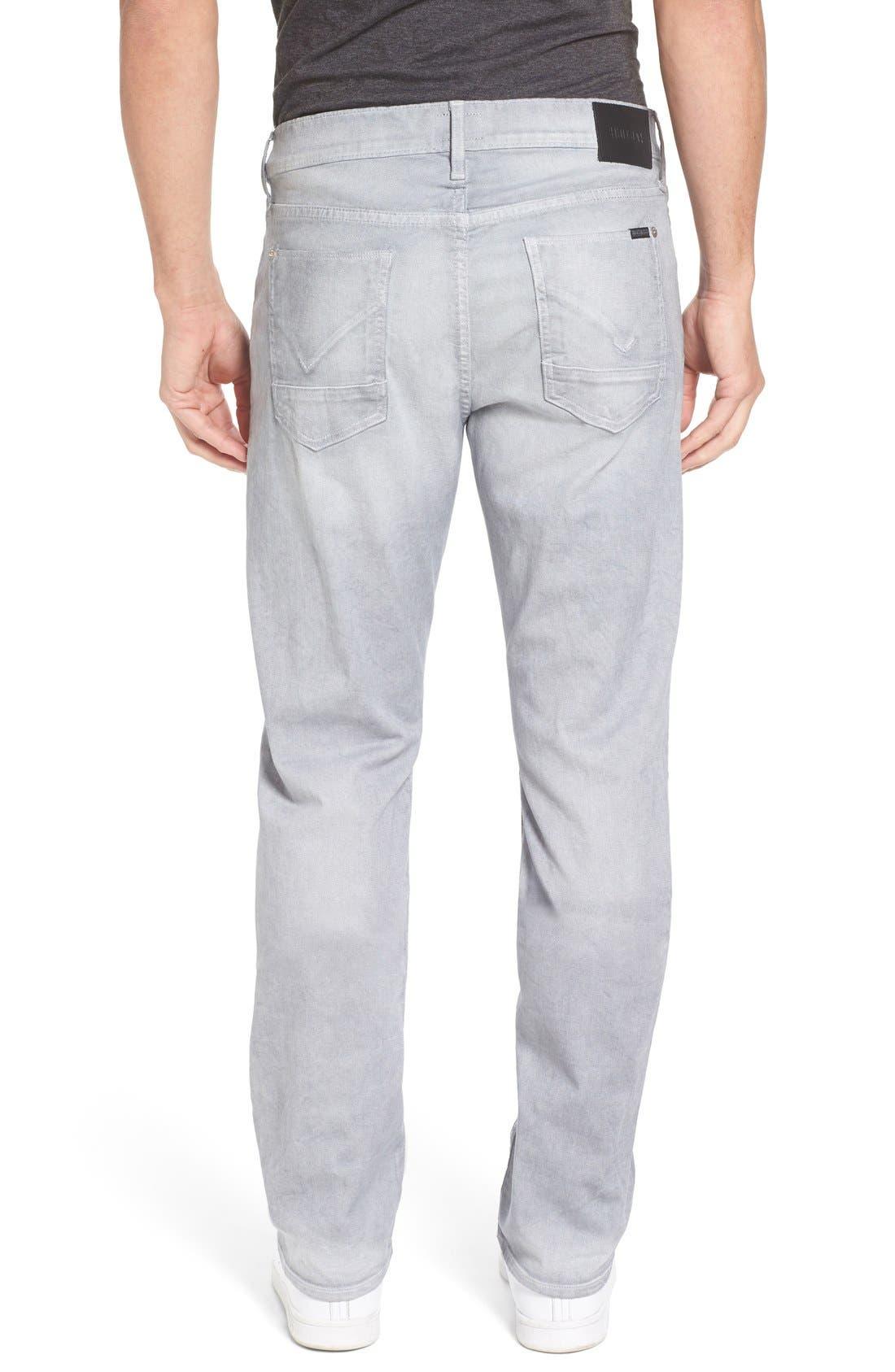 Alternate Image 2  - Hudson Jeans Byron Slim Straight Leg Jeans (Militia Grey)