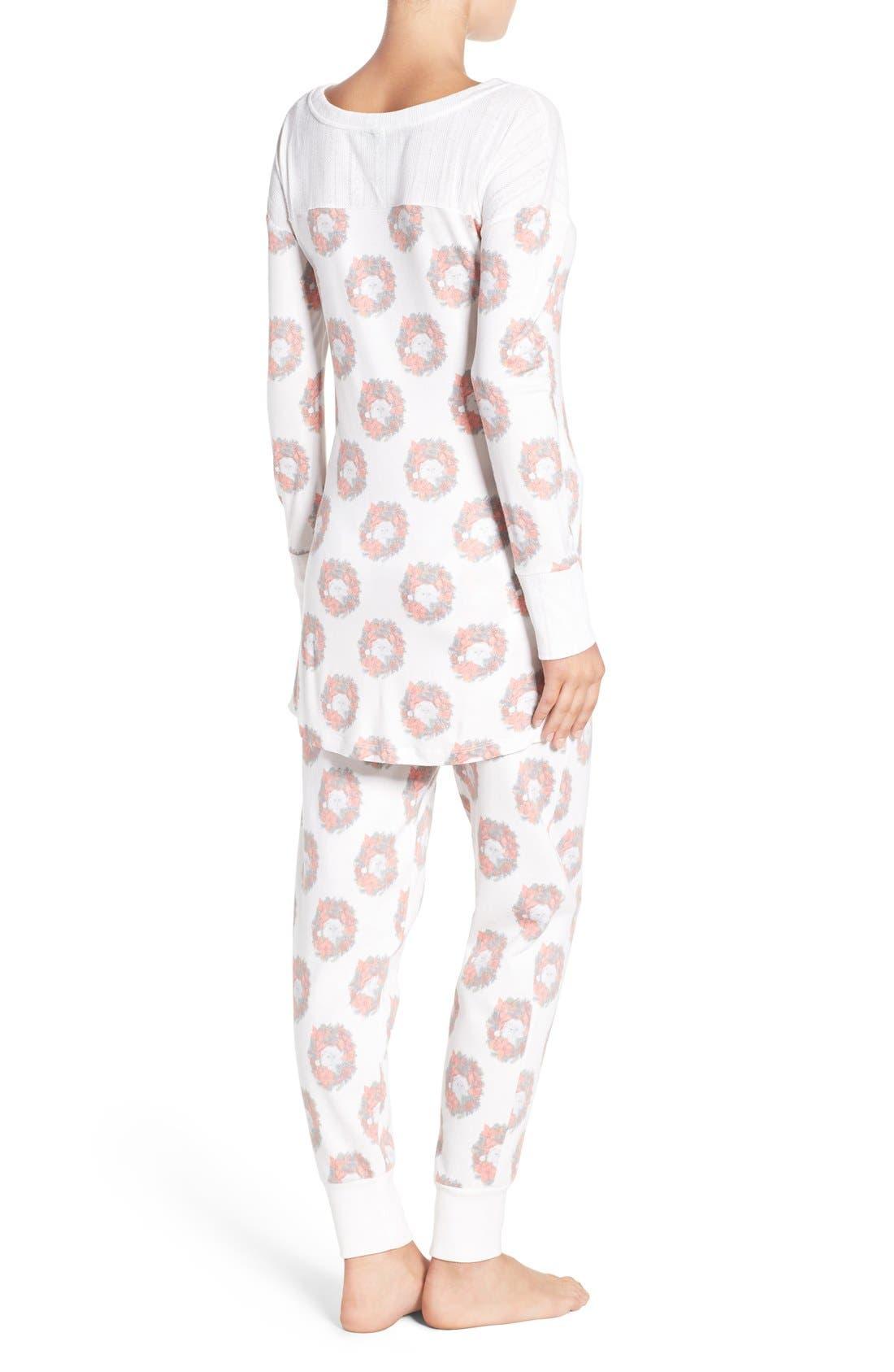 Alternate Image 2  - Honeydew Intimates Fleece Pajamas
