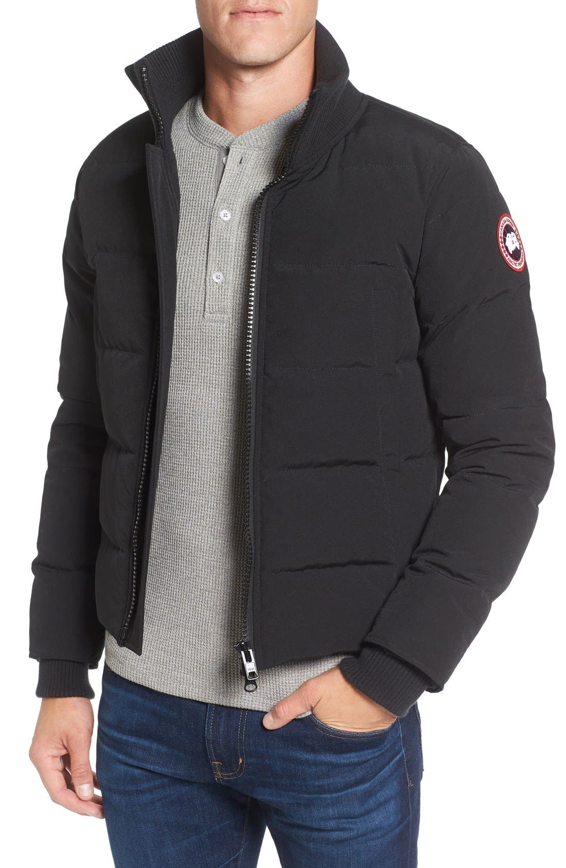 Alternate Image 1 Selected - Canada Goose 'Woolford' Down Bomber Jacket