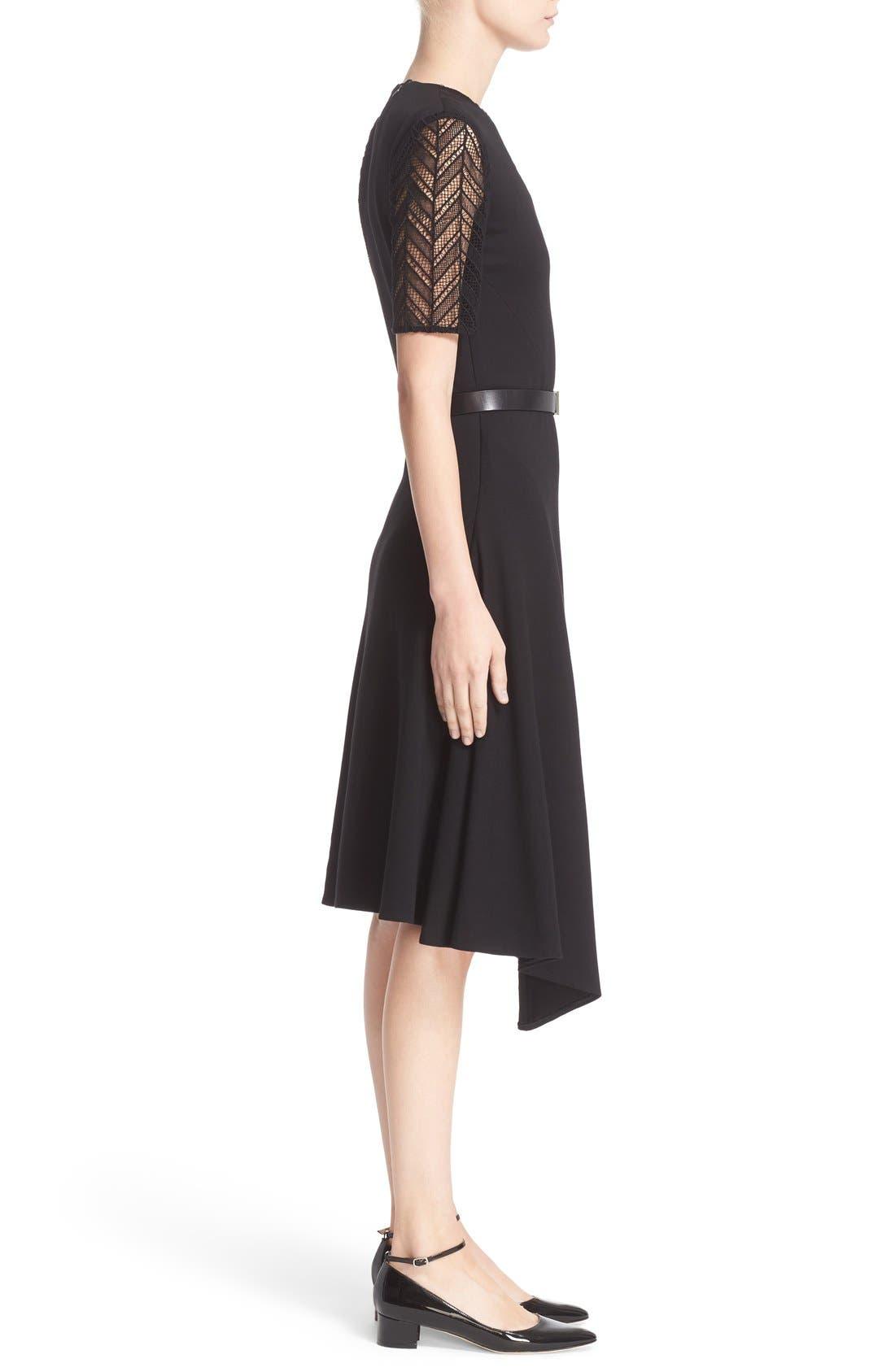 Alternate Image 5  - Jason Wu Chevron Lace & Ponte Knit Asymmetric Dress