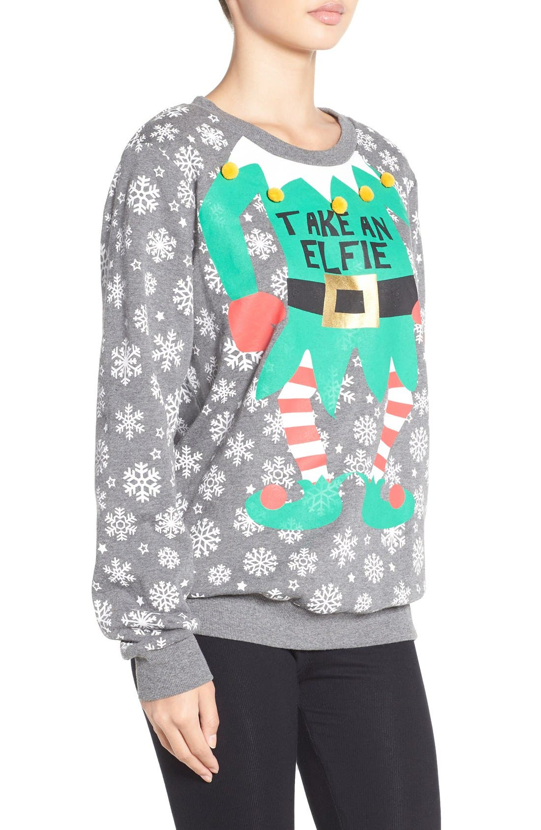 Alternate Image 3  - COZY ZOE Holiday Sweatshirt