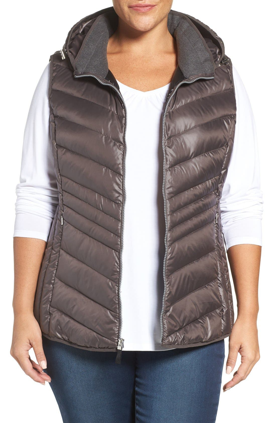 ANDREW MARC Hooded Down Vest