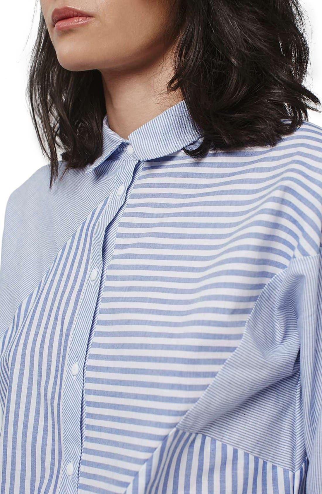 Alternate Image 5  - Topshop 'Harper' Mixed Stripe Shirt