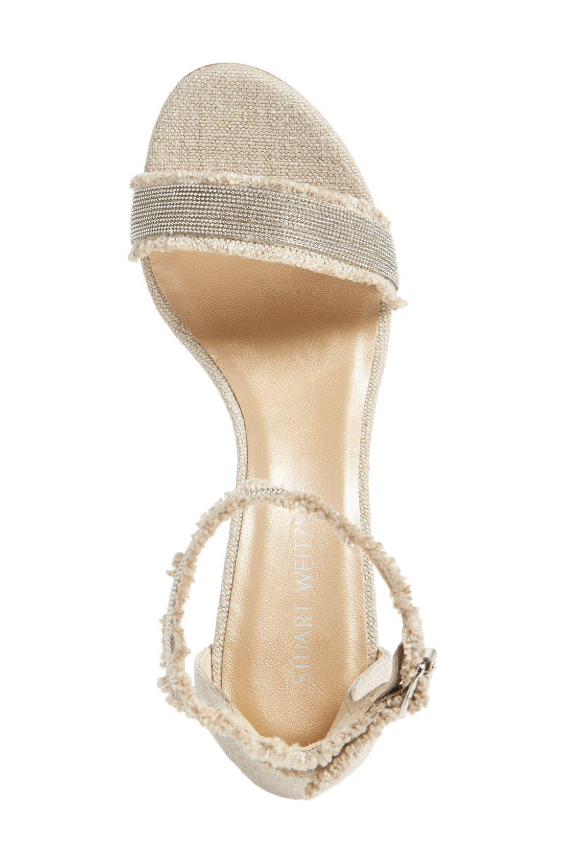 Alternate Image 3  - Stuart Weitzman 'Chaingang' Ankle Strap Sandal (Women)