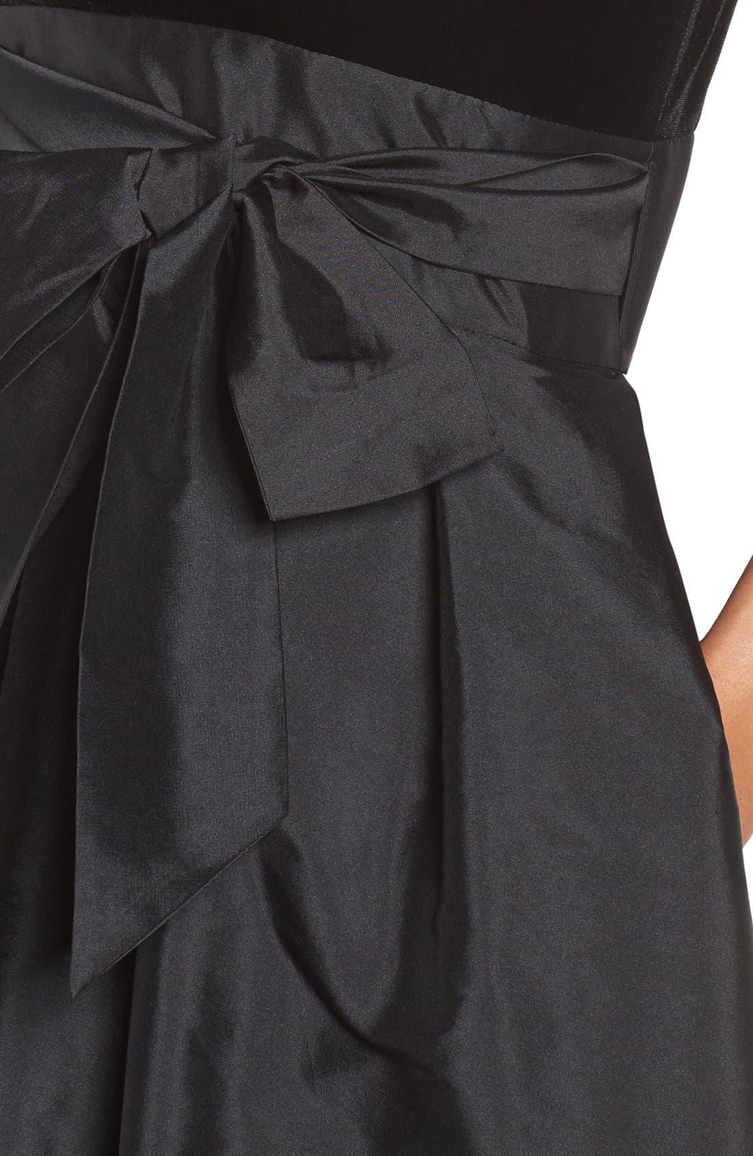 Alternate Image 5  - Adrianna Papell Velvet & Taffeta Fit & Flare Dress