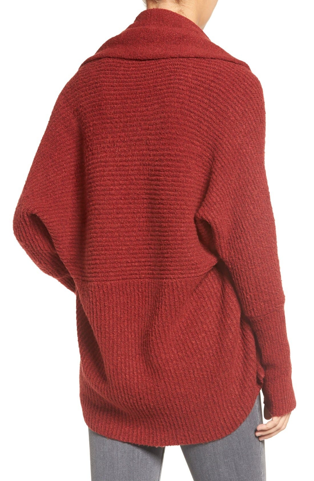 Alternate Image 2  - Chelsea28 Dolman Sleeve Open Front Cardigan