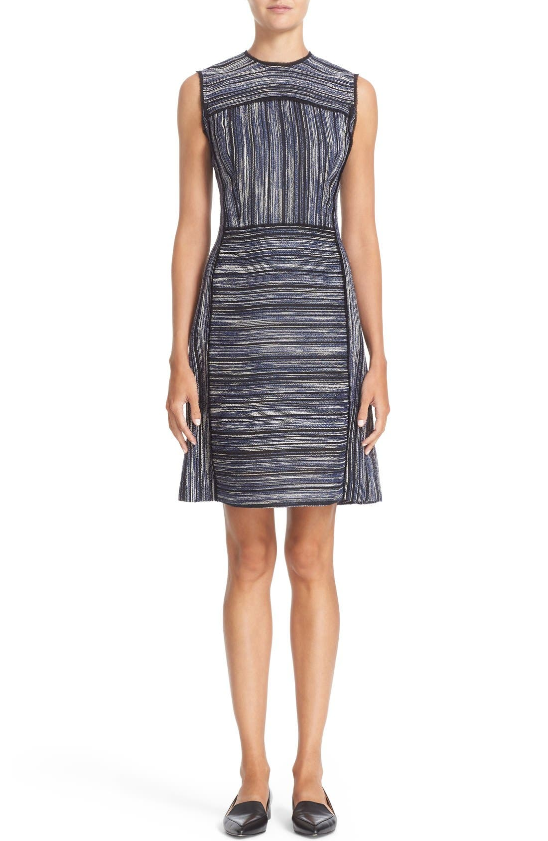 JASON WU Tweed Textured Fit & Flare Dress