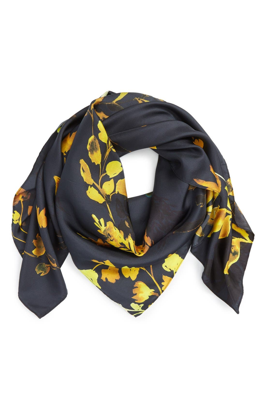 Alternate Image 1 Selected - Nordstrom Woodland Whispers Square Silk Scarf