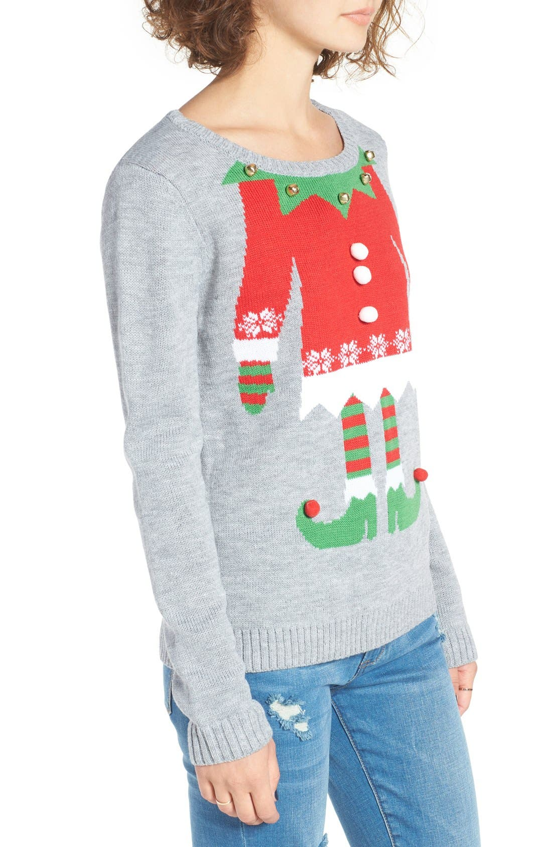 Alternate Image 3  - Love By Design Elf Body Christmas Sweater