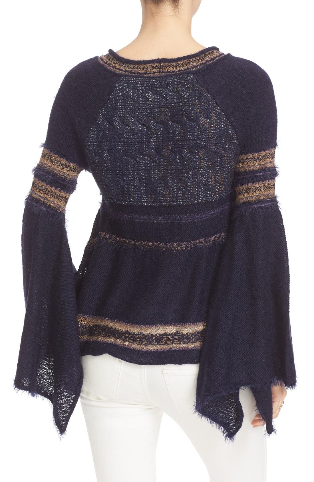 Alternate Image 2  - Free People Craft Time Mixed Knit Sweater