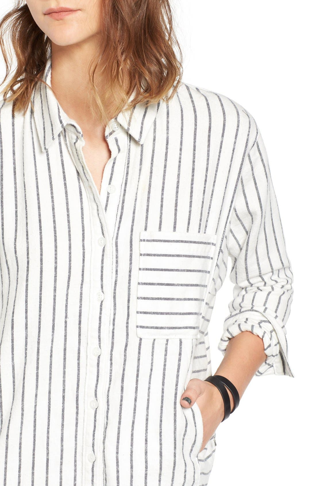 Alternate Image 4  - BP. Stripe Flannel Shirt