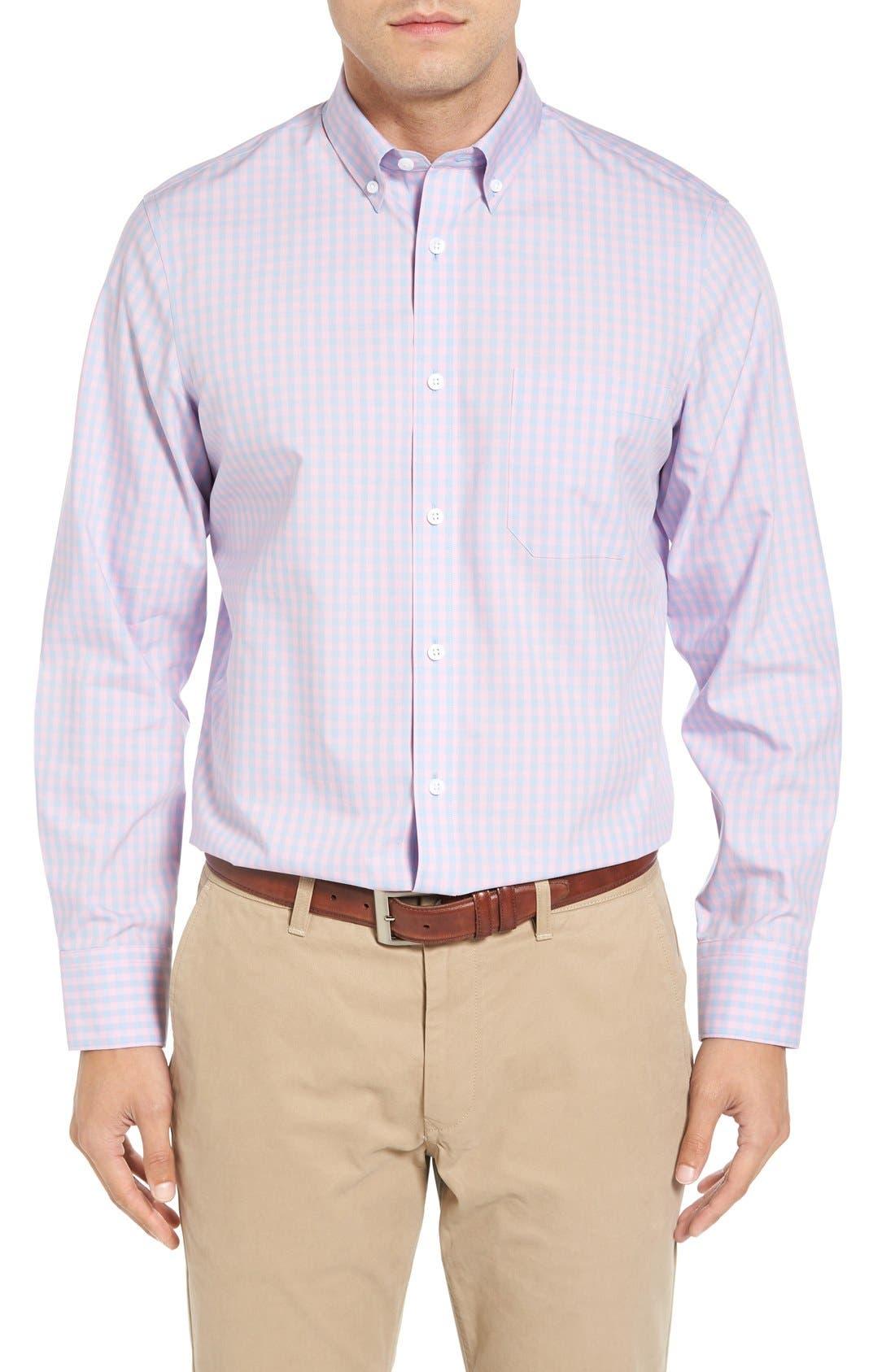 Alternate Image 1 Selected - Nordstrom Men's Shop Smartcare™ Regular Fit Check Sport Shirt (Tall)
