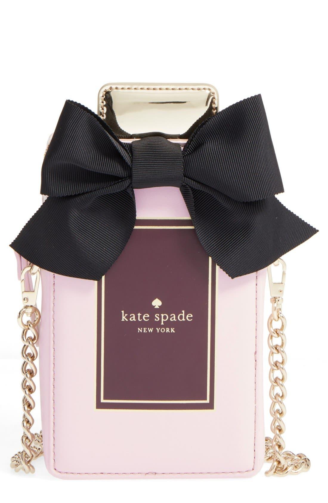 Alternate Image 1 Selected - kate spade new york 'on pointe - perfume bottle' leather crossbody bag