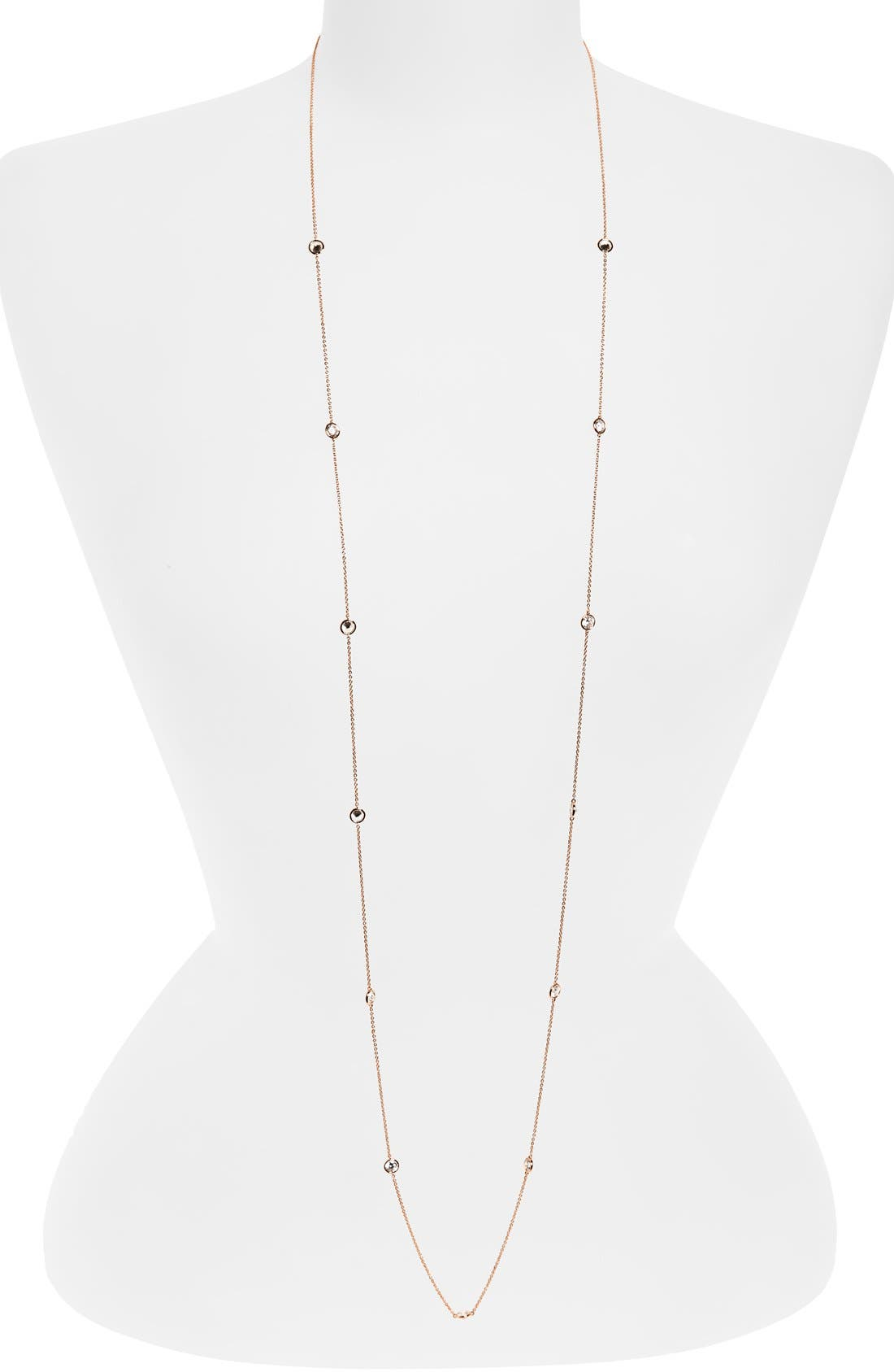 Alternate Image 1 Selected - Nadri Long Bezel Station Necklace