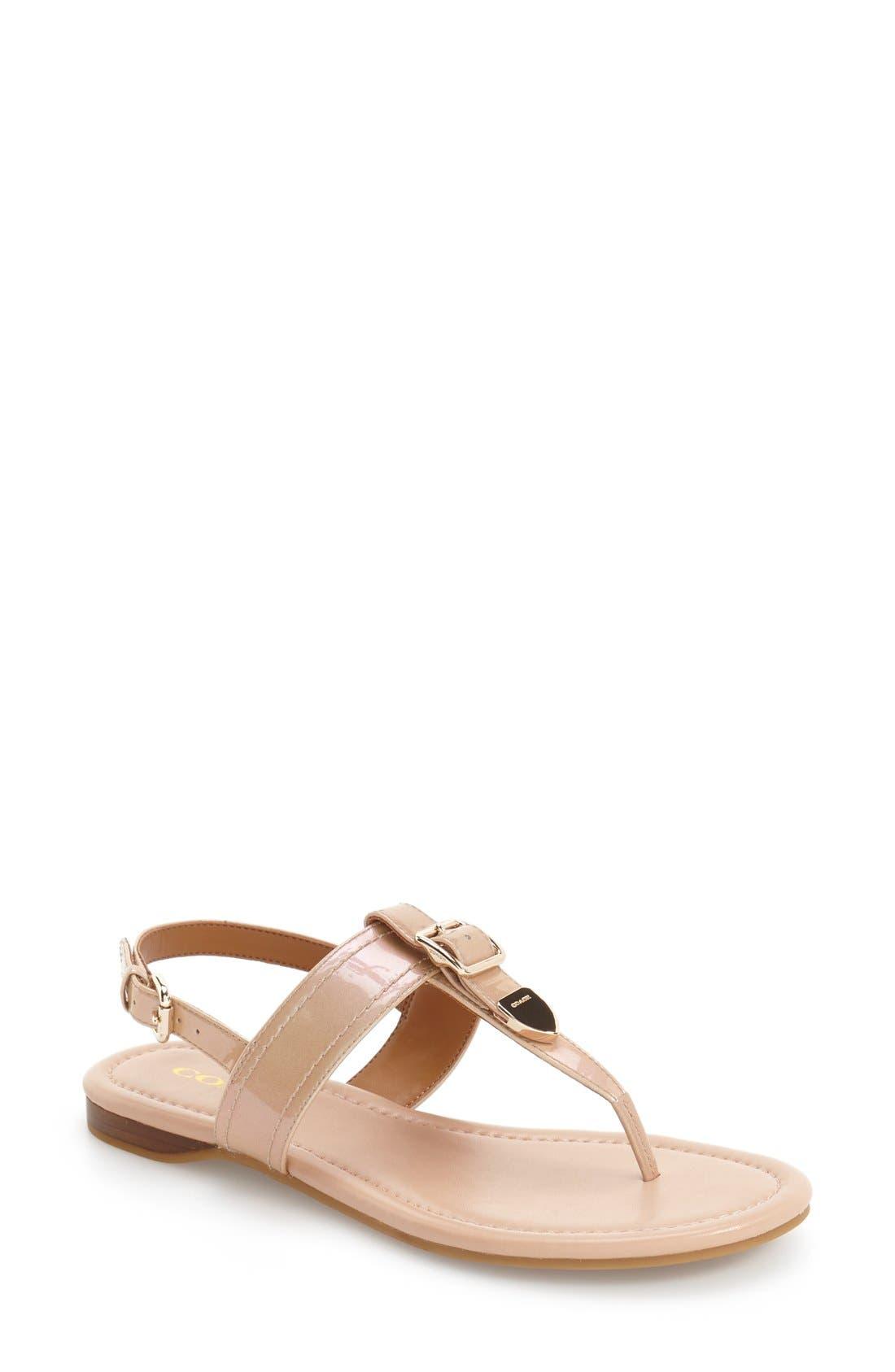 COACH 'Cassidy' T-Strap Sandal (Women)