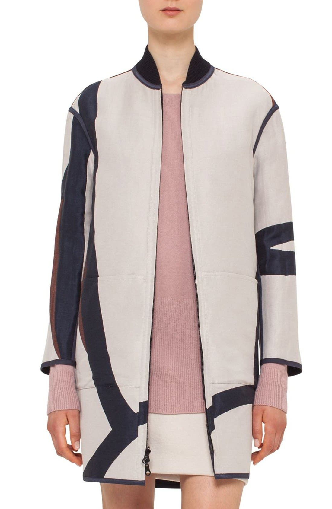 Alternate Image 2  - Akris punto 'Coastal Chart' Reversible Jacquard Coat