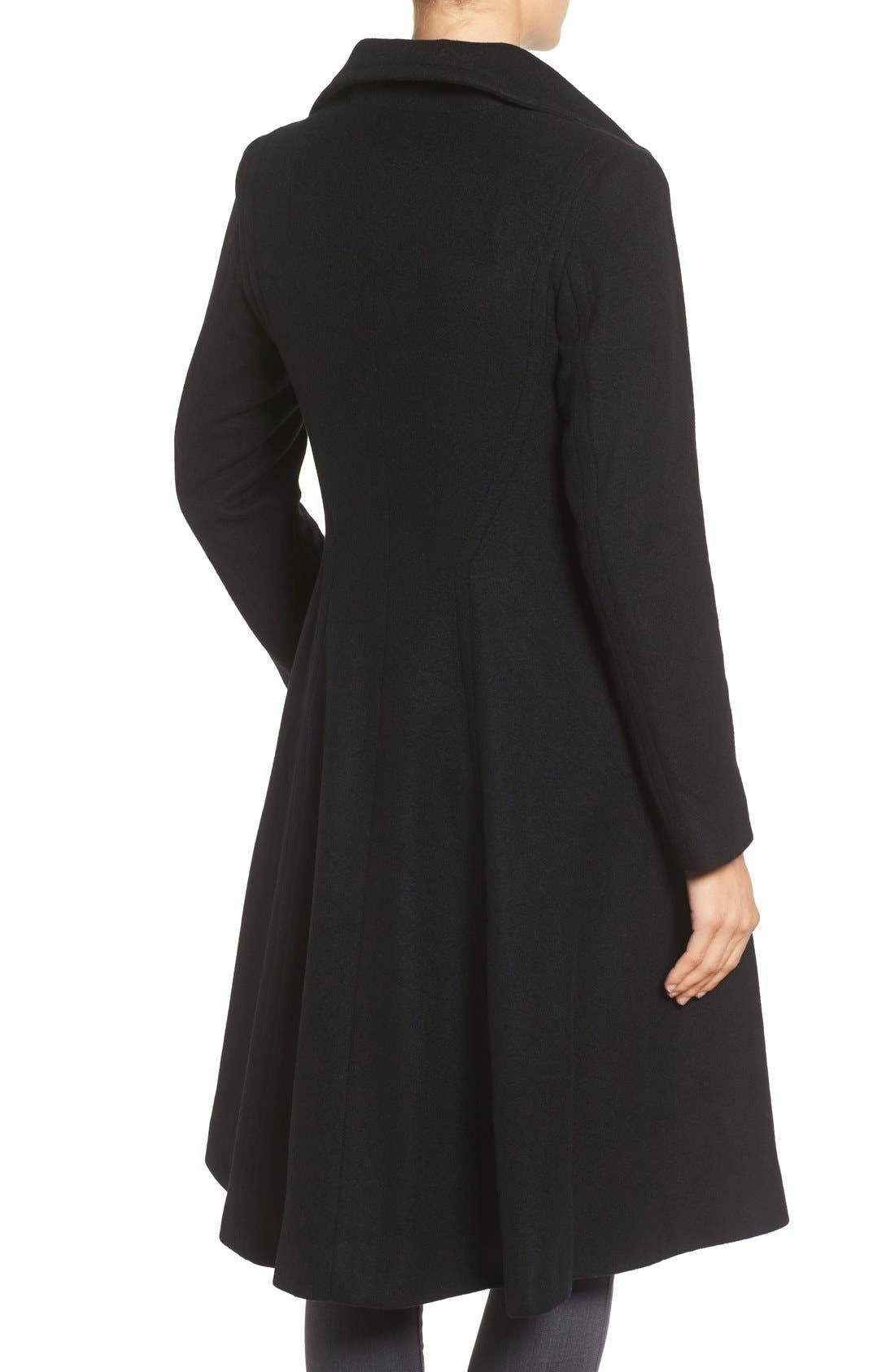 Alternate Image 2  - Vera Wang Isabella Skirted Wool Blend Coat