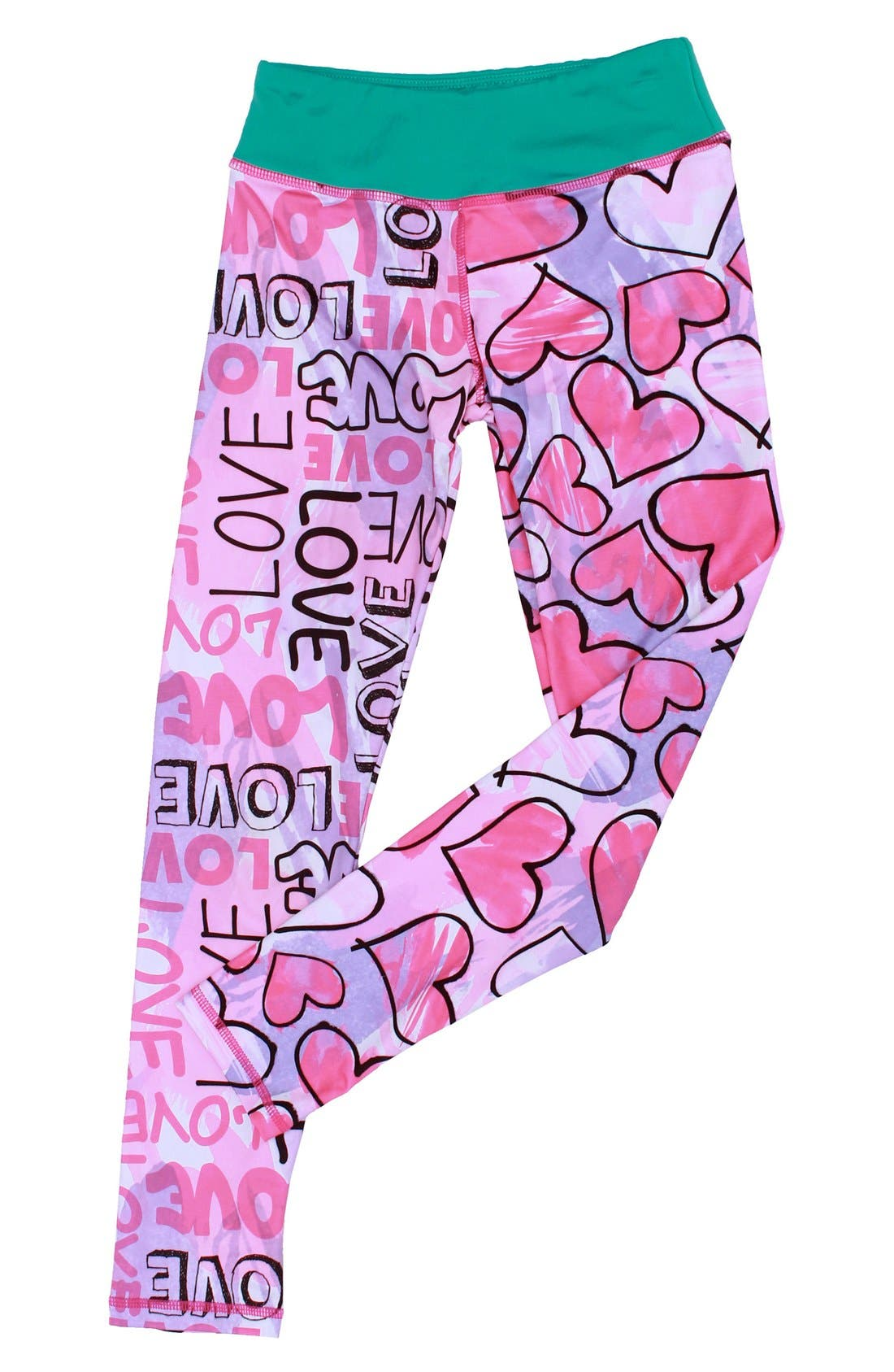 CHOOZE Splits Mixed Print Leggings