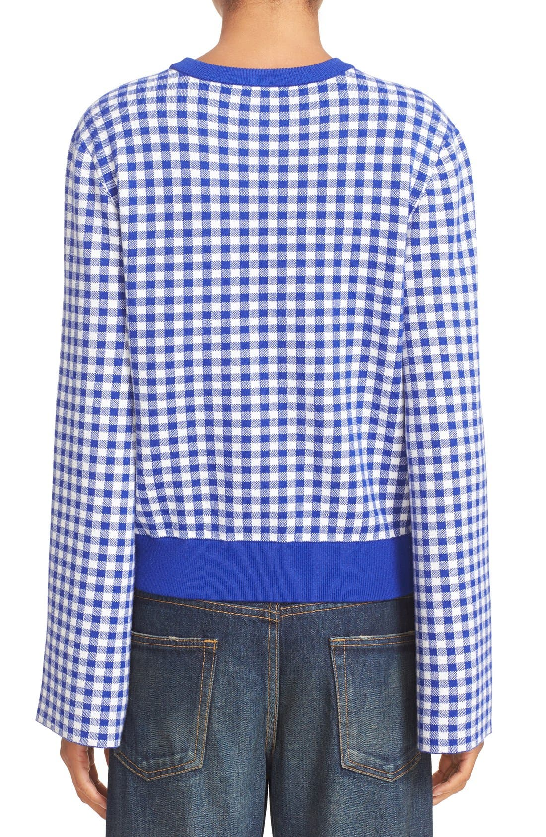 Alternate Image 2  - Opening Ceremony Embroidered Map Gingham Sweater