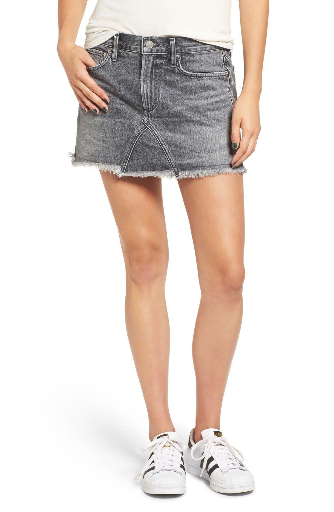 Alternate Image 2  - AGOLDE Jeanette Denim Miniskirt