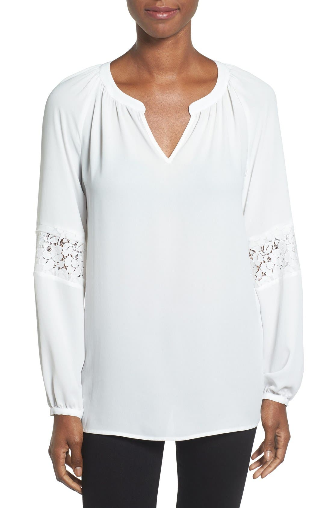 Main Image - Pleione Lace Sleeve Top